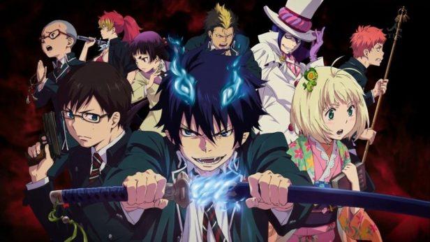 serie de anime como el exorcista azul