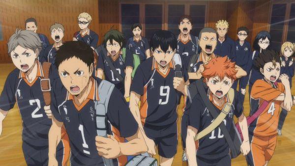 haikyuu equipo de anime