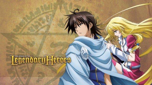 la leyenda de los legendarios héroes personajes de anime