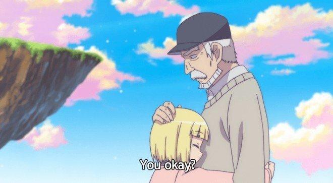 momento de calentamiento del corazón de Alicia y Zouroku