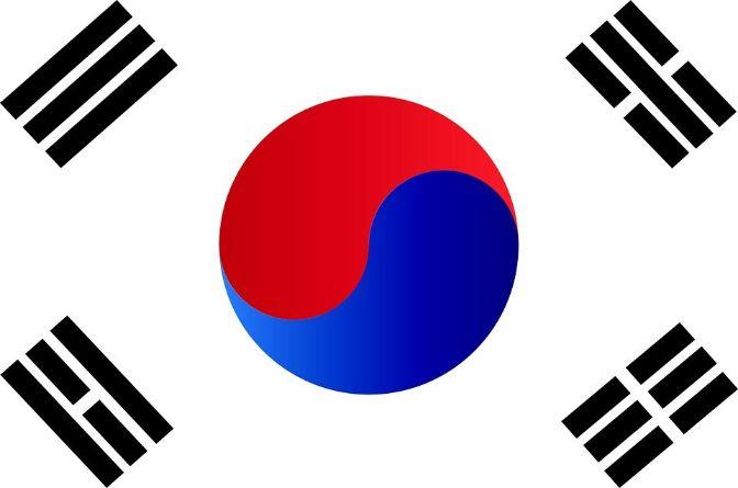 república de la bandera de Corea del Sur